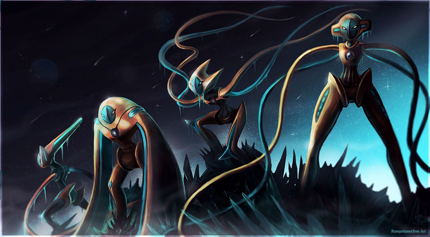 2 deoxys pokemon fonds d 39 cran hd arri re plans wallpaper abyss - Legendaire shiney ...