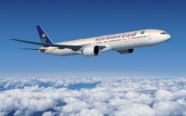 Fordon Boeing 777 Flygplan Boeing Saudi Arabia Cloud HD Wallpaper | Background Image