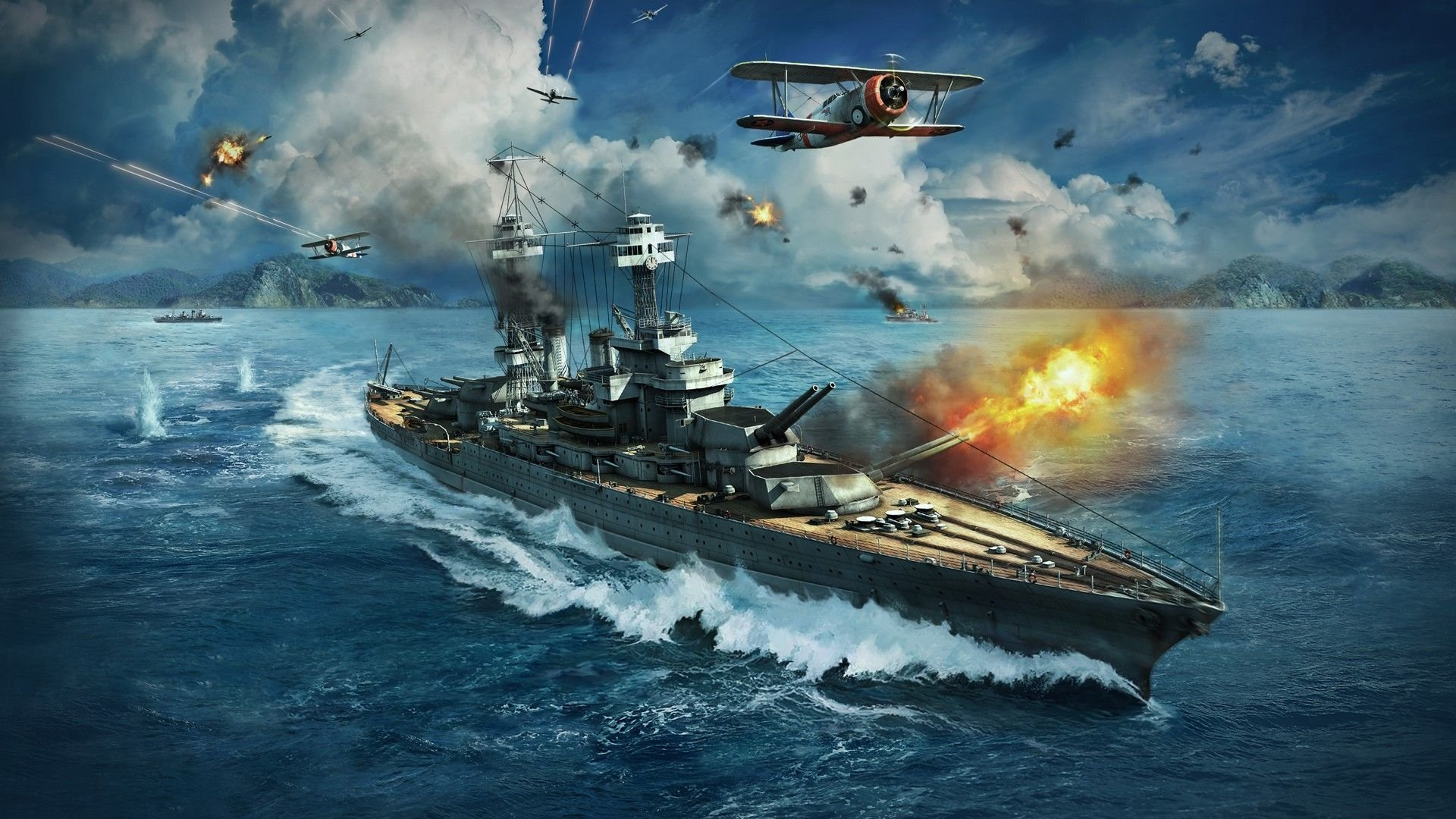 World Of Warships Hd Wallpaper Background Image 1920x1080 Id