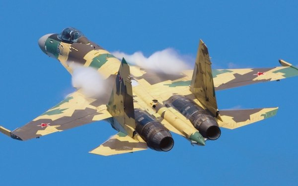 Military Sukhoi Su-35 Jet Fighters Aircraft Air Force Warplane HD Wallpaper   Background Image