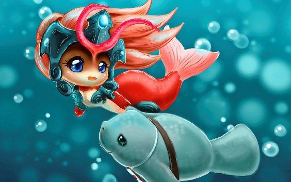 Video Game League Of Legends Mermaid Nami Urf HD Wallpaper | Background Image