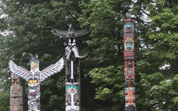 Man Made Totem Pole Totem Poles Native American Carvings HD Wallpaper | Background Image