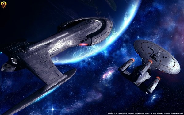 TV Show Star Trek: The Next Generation Star Trek Enterprise Galaxy Class USS Phoenix HD Wallpaper | Background Image