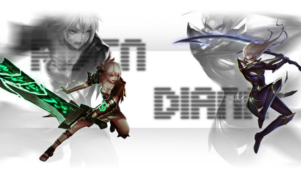 Video Game League Of Legends Riven Diana HD Wallpaper | Background Image