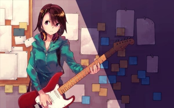 Anime Music Guitar HD Wallpaper | Background Image