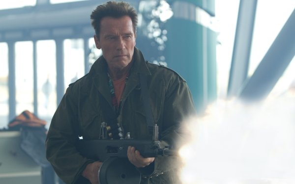 Movie The Expendables 2 The Expendables Arnold Schwarzenegger Trench HD Wallpaper | Background Image
