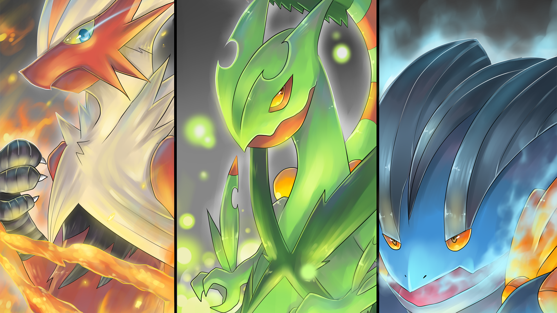 3 Mega Blaziken Pokemon HD Wallpapers