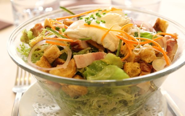 Food Salade Lyonnaise Meal Lunch HD Wallpaper   Background Image