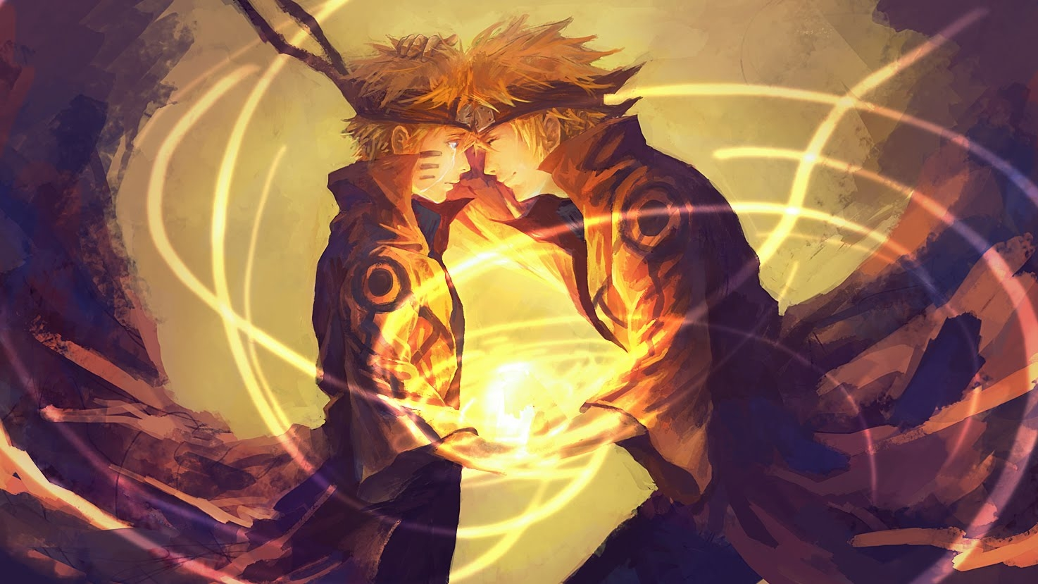 naruto and his father minato wallpaper and background | 1474x829
