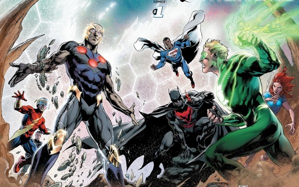 Comics Convergence Flash Superman Batman Green Lantern DC Comics Alan Scott Thomas Wayne Jay Garrick HD Wallpaper | Background Image