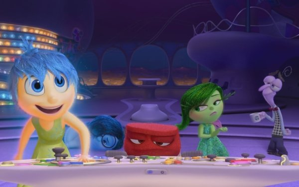 Movie Inside Out Joy Sadness Anger Disgust Fear HD Wallpaper | Background Image