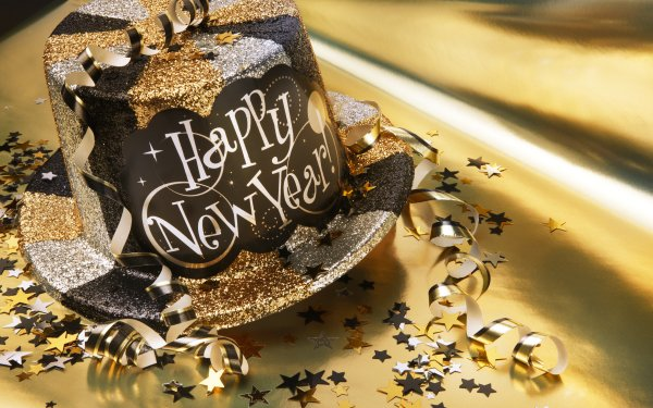 Holiday New Year Hat Party HD Wallpaper   Background Image
