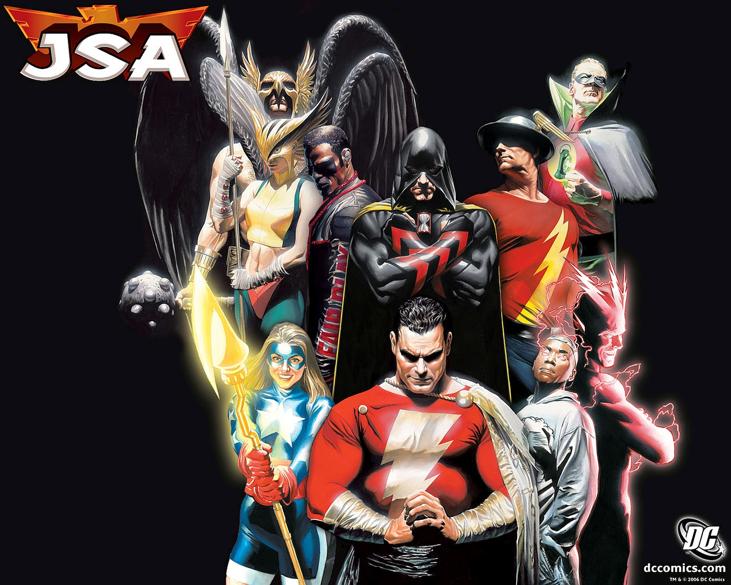 Justice Society Of America Wallpaper And Background Image