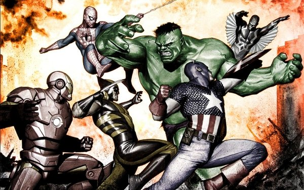 Comics New Mutants X-Men Hulk Capitan América Spider-Man Iron Man Black Bolt Wolverine Fondo de pantalla HD | Fondo de Escritorio