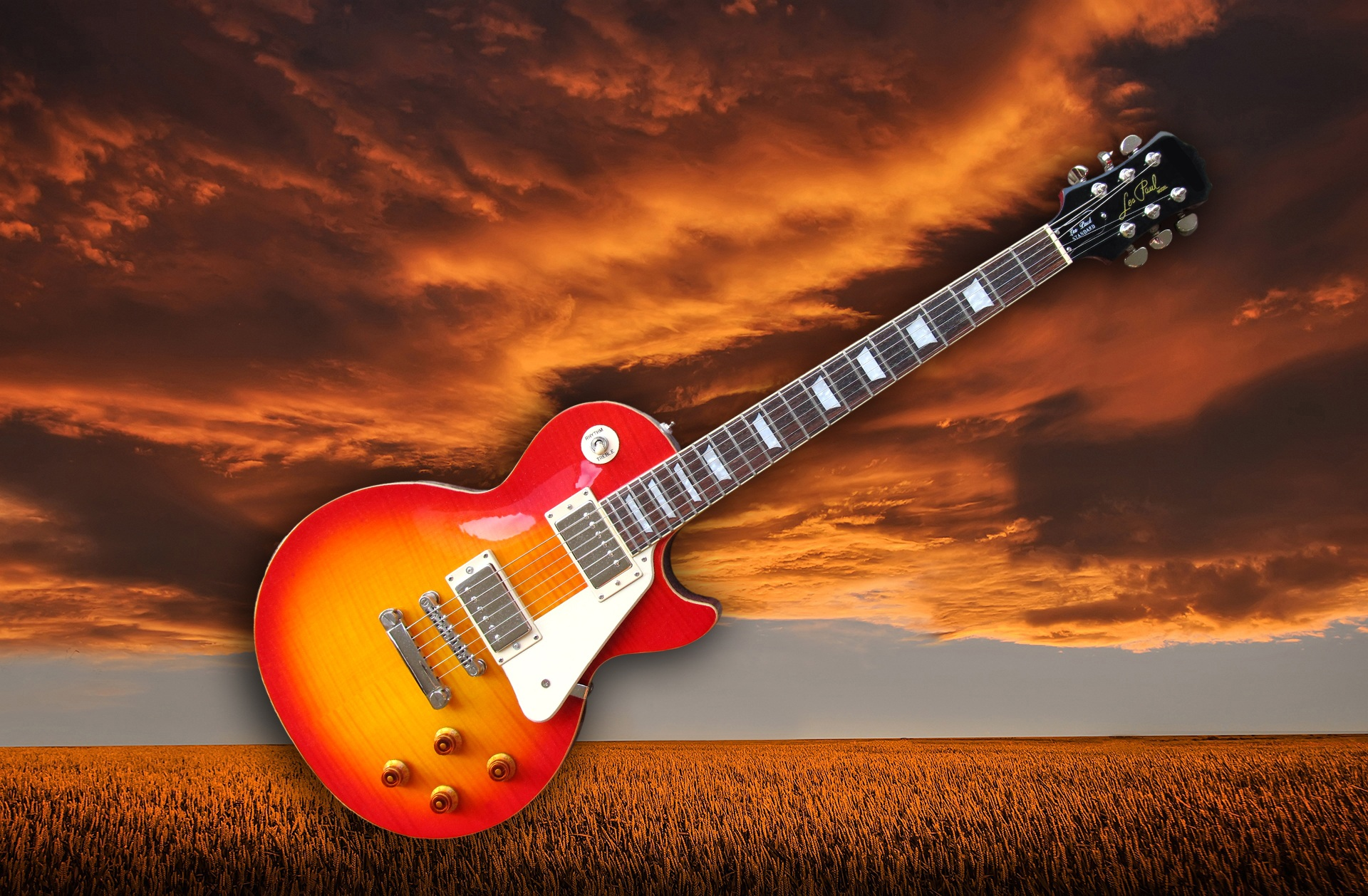 Les Paul Electric Guitar Hd Wallpaper Background Image