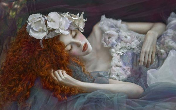 Women Mood Long Hair Redhead HD Wallpaper | Background Image