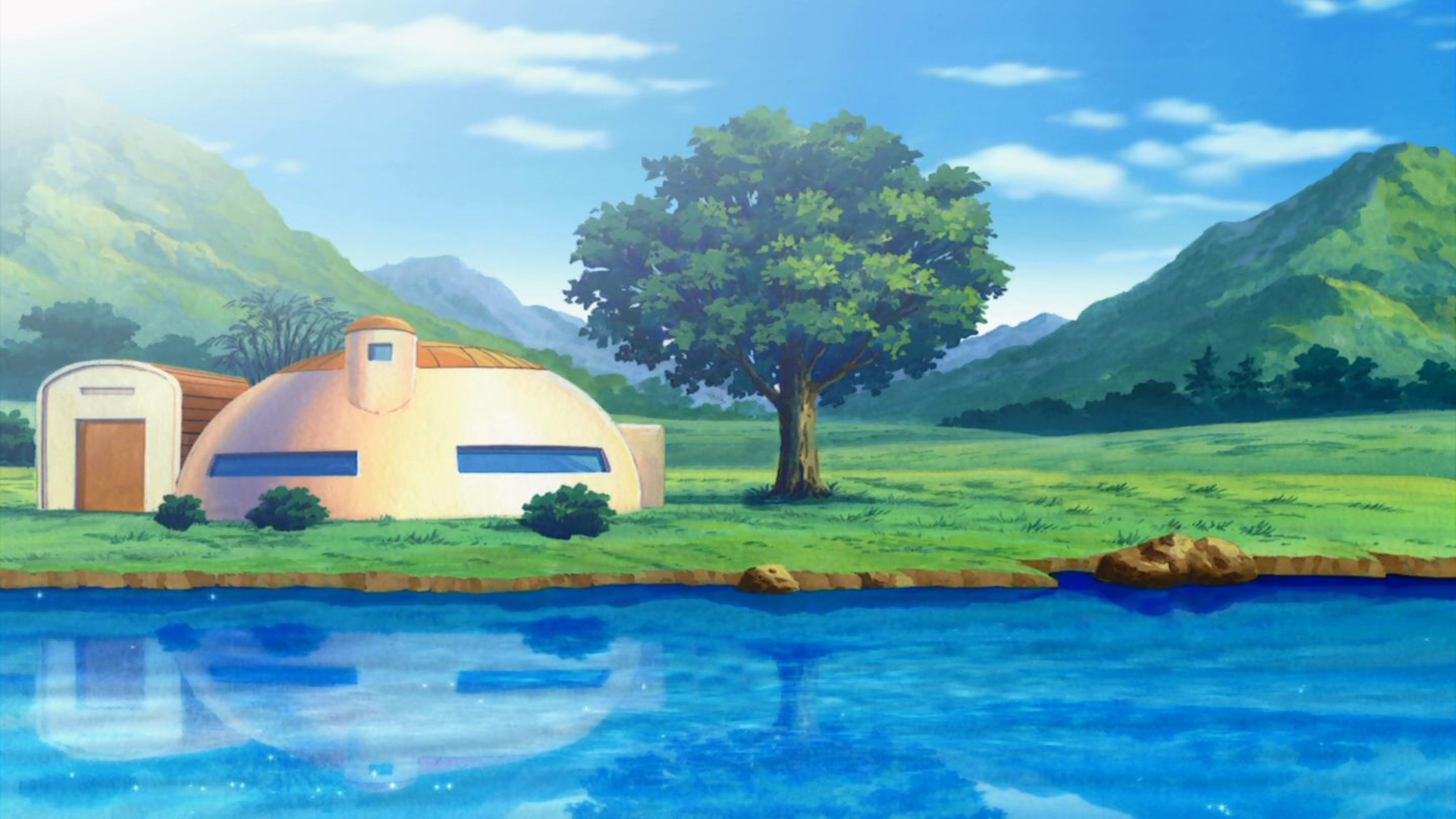 Goku 39 S House Full Hd Wallpaper And Background Image