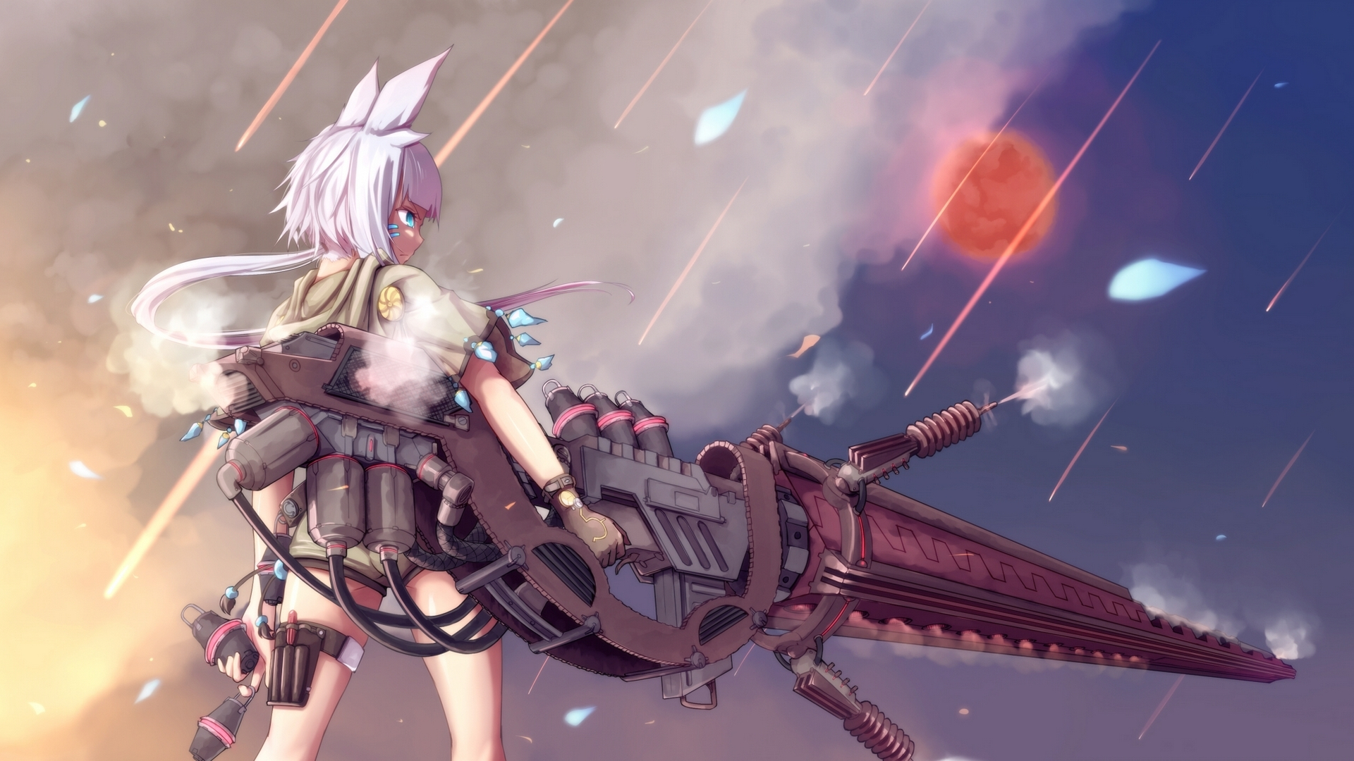 Anime girl hd wallpaper background image 1920x1080 - Anime girl with weapon ...
