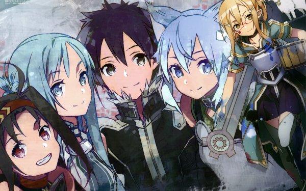 Anime Sword Art Online II Sword Art Online Yuuki Konno Asuna Yuuki Kirito Sinon HD Wallpaper | Background Image