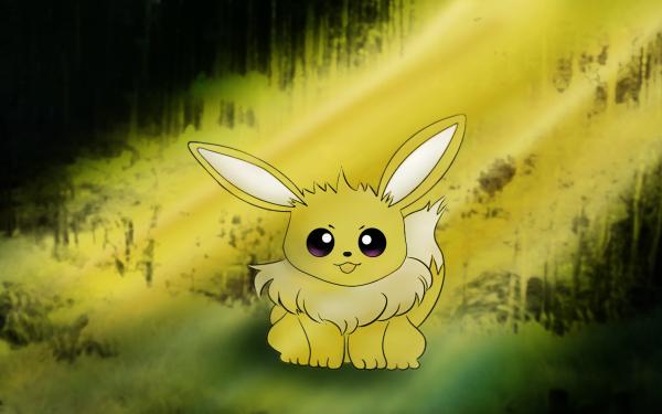 Anime Pokémon Eevee Artistic Sunlight Shiny Pokémon HD Wallpaper | Background Image