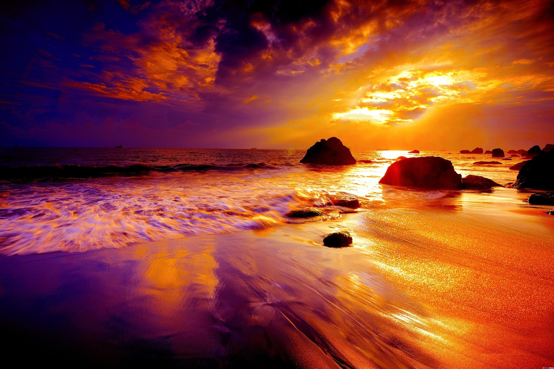 Beach sunset hd wallpaper background image 3000x2000 for Sfondi 4k per pc