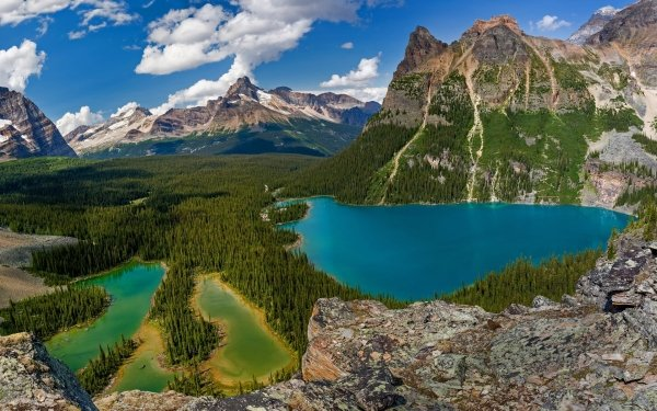 Earth Lake Lakes Landscape Mountain Tree Forest Yoho National Park Canada Nature HD Wallpaper   Background Image