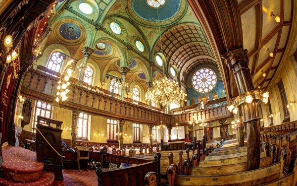 Fotografía Fisheye New York USA Synagogue Chandelier Iglesia Religious Fondo de pantalla HD | Fondo de Escritorio