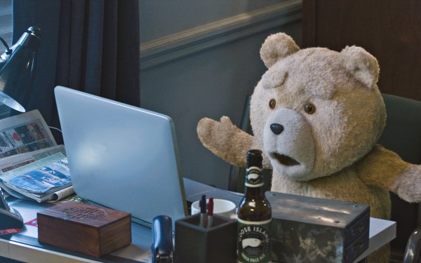 Movie Ted 2 Ted Desk Teddy Bear HD Wallpaper   Background Image