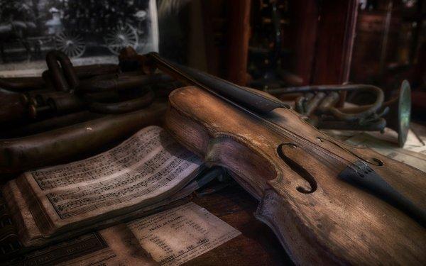Music Violin Sheet Music HD Wallpaper | Background Image