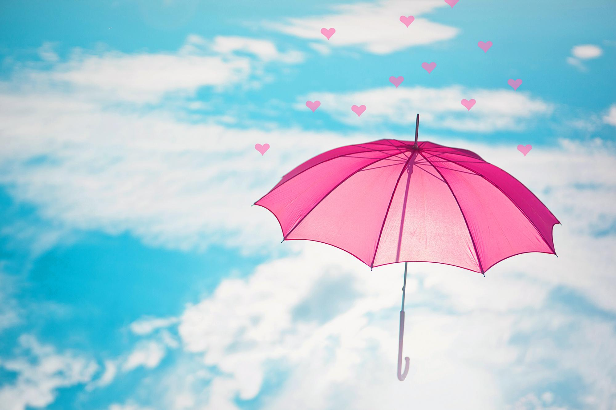 pink umbrella in the sky full hd wallpaper and background image 2000x1333 id 686363. Black Bedroom Furniture Sets. Home Design Ideas