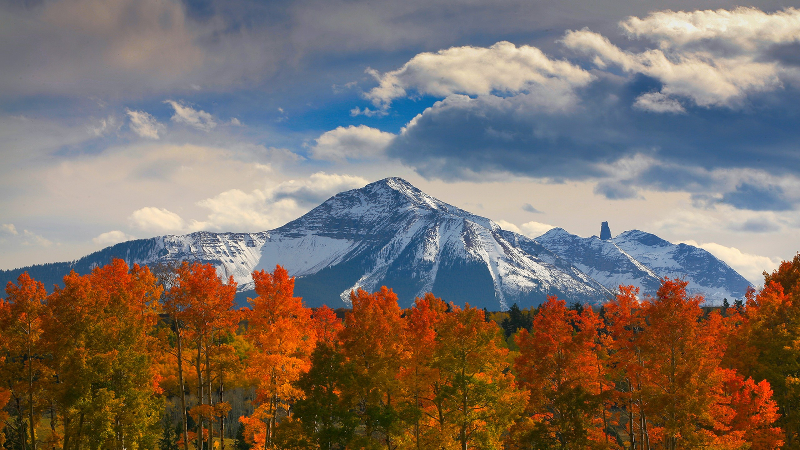 Autumn trees in the mountains hd wallpaper background - Colorado desktop background ...
