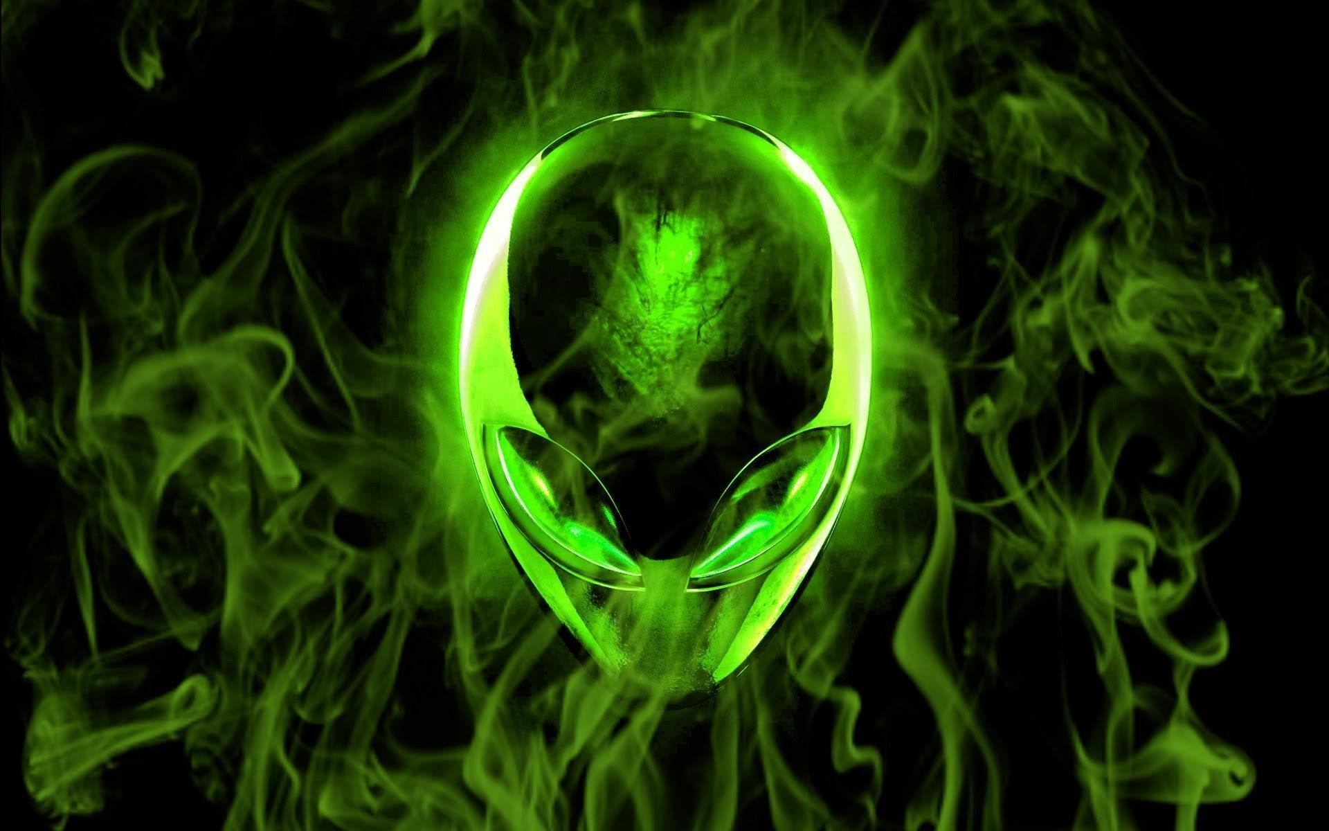 Green Alien And Smoke Papel De Parede HD