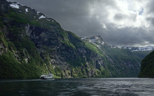 Earth Fjord Norway Landscape HD Wallpaper | Background Image