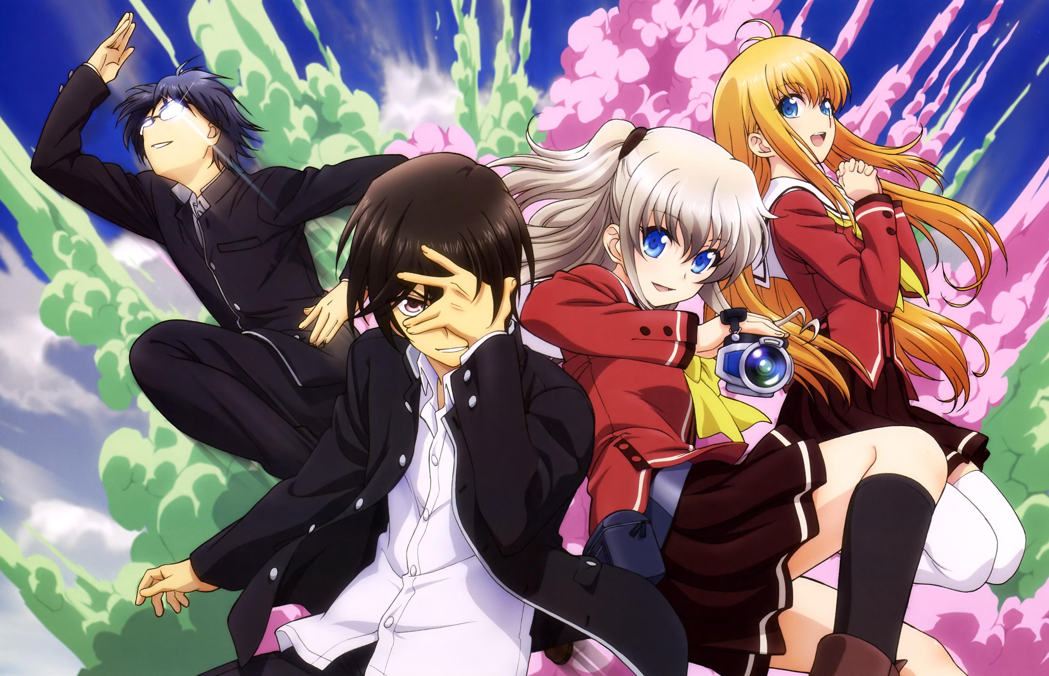 Charlotte anime main members fondo de pantalla hd - Anime para fondo ...