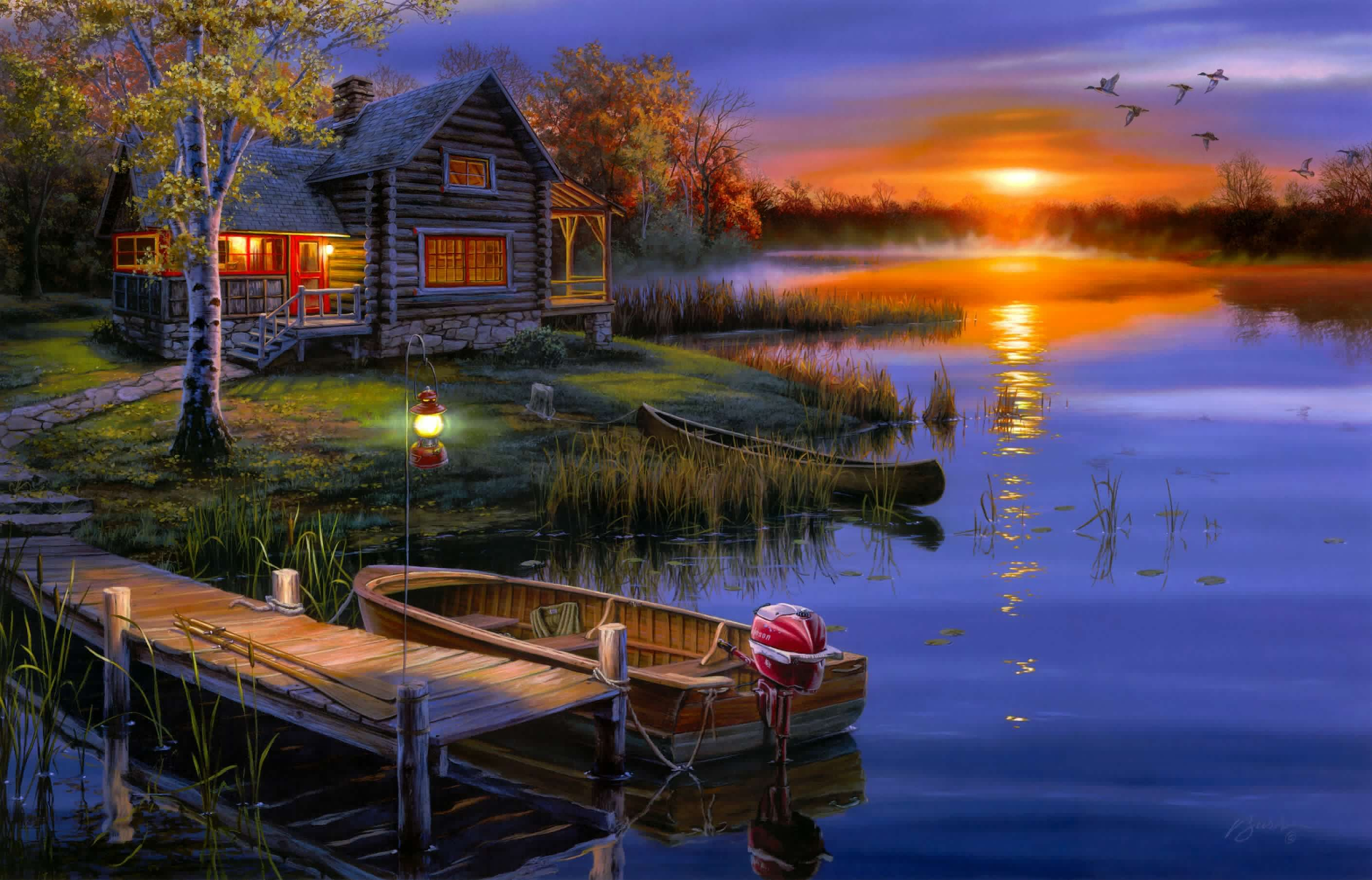Haus am see wallpaper  Boat by the Lake House Full HD Wallpaper and Hintergrund ...