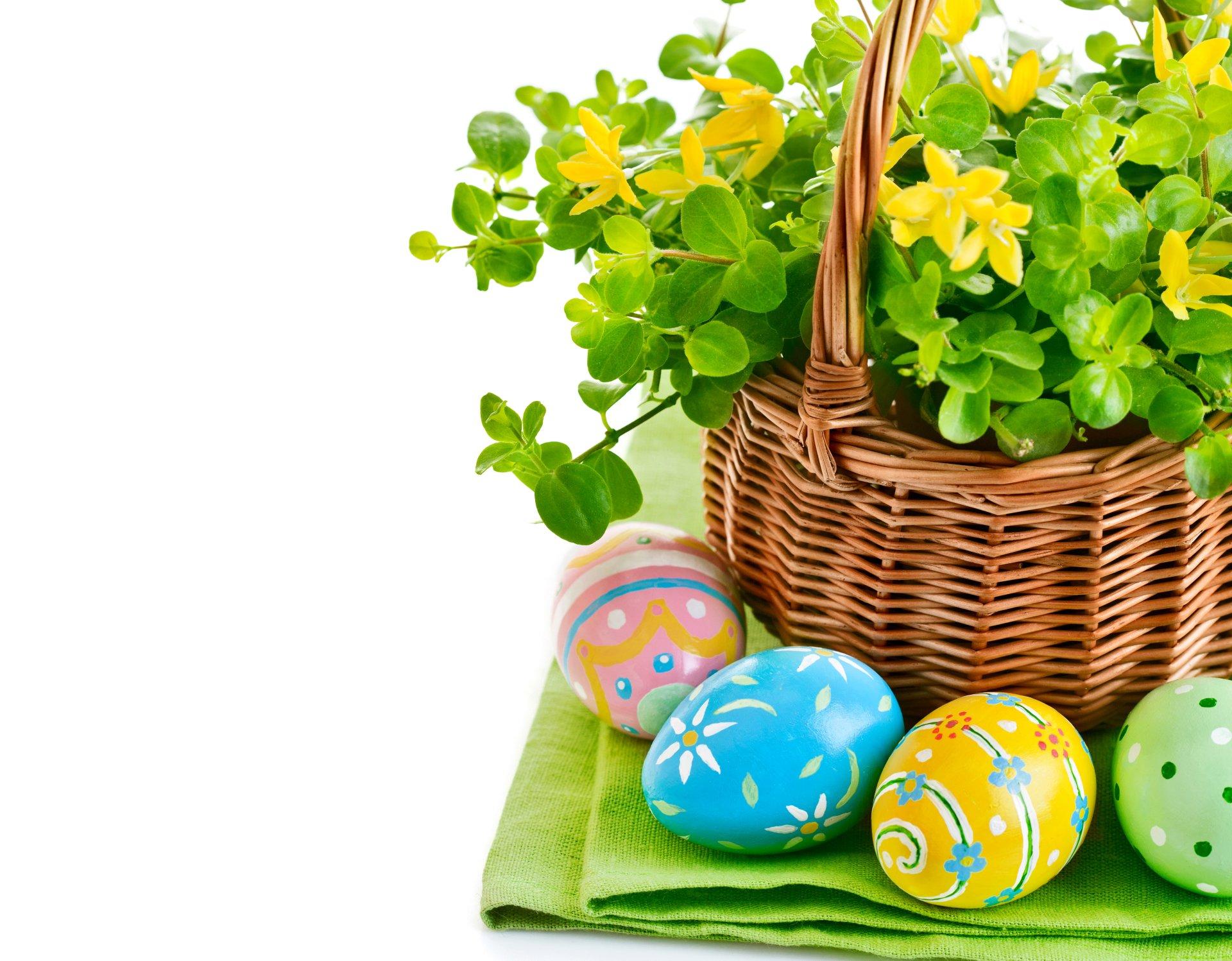 Holiday - Easter  Holiday Flower Basket Egg Easter Egg Colors Wallpaper