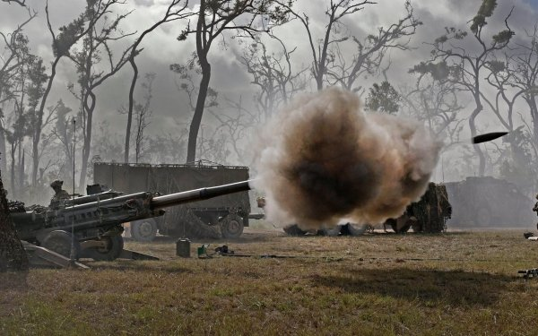 Military M777 howitzer Artillery Weapon HD Wallpaper   Background Image