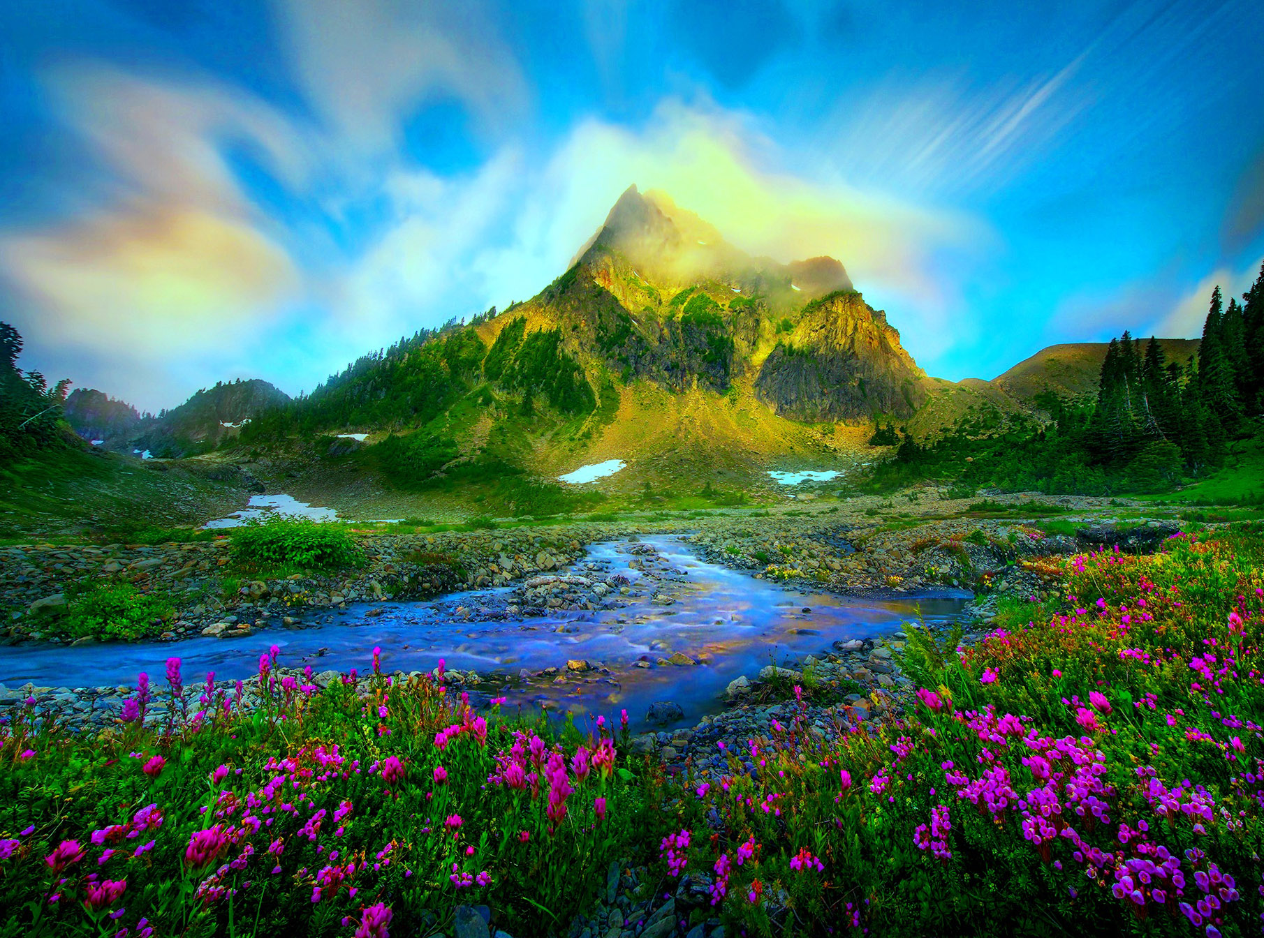 Springtime in the Mountains Wallpaper and Background Image ...