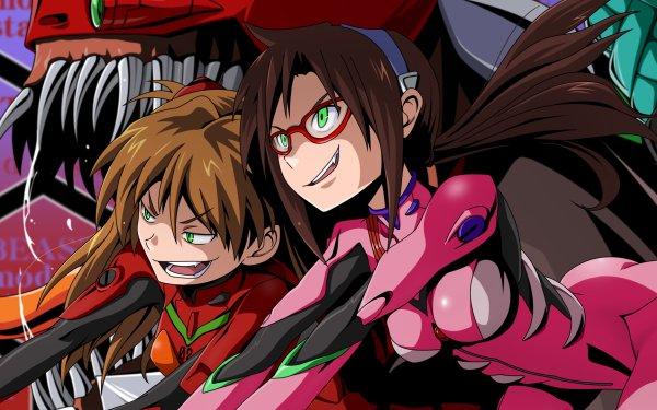 Anime Evangelion: 2.0 You Can (Not) Advance Evangelion Asuka Langley Sohryu Mari Makinami Illustrious HD Wallpaper | Background Image