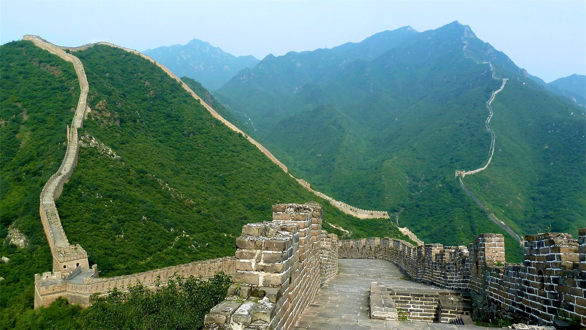 the great wall of china hd wallpaper | background image | 1920x1080