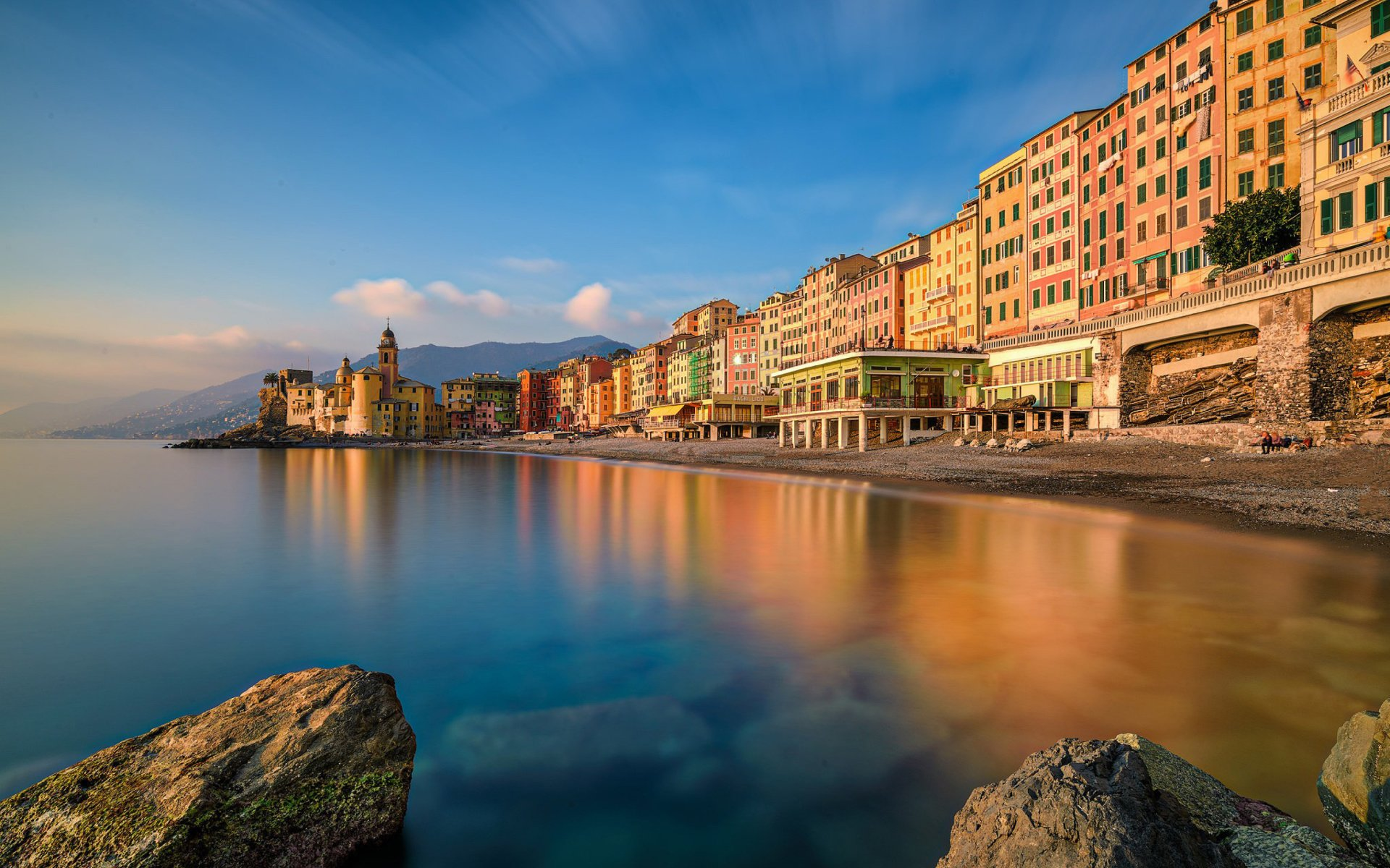 Man Made - Portofino  Man Made Italy House Town Colors Colorful Coast Wallpaper