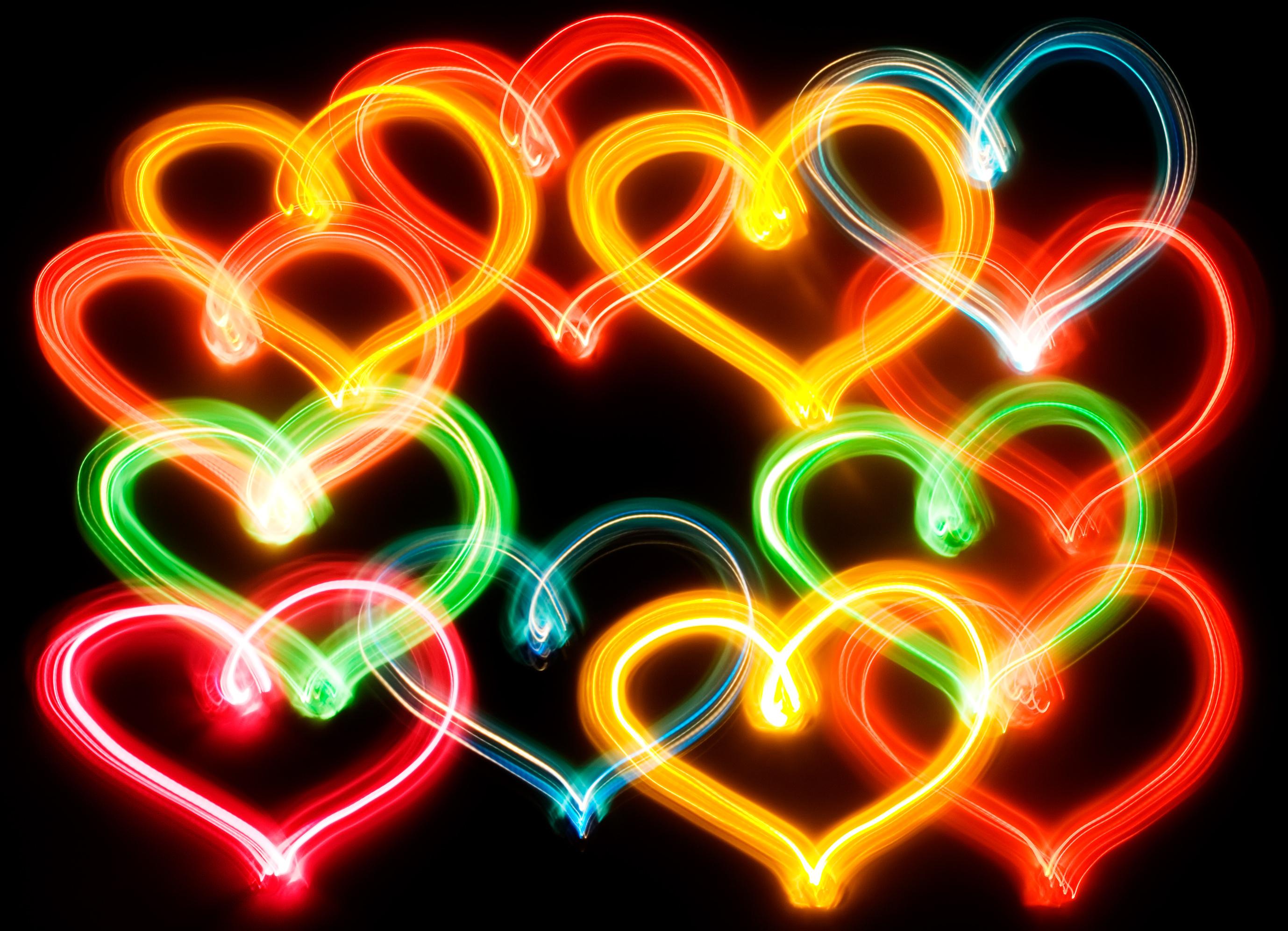 Neon Heart Abstract Fondo de pantalla HD | Fondo de Escritorio | 2757x1994 | ID:694291 ...