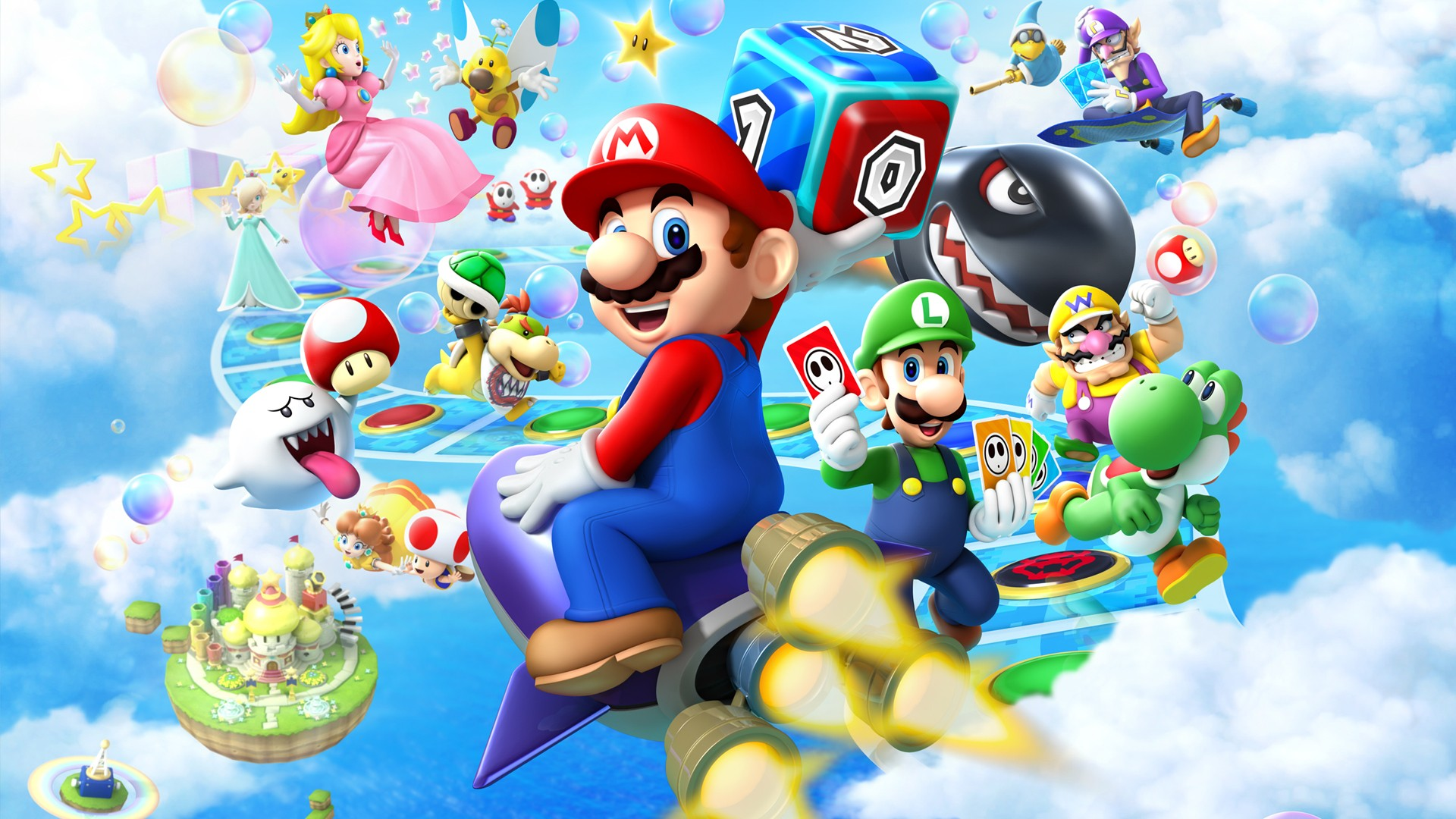 Papel Parede Mario ~ Mario Party Island Tour Wallpaper Full HD Papel de Parede and Planos de Fundo 1920×1080 ID