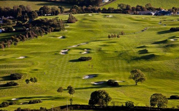 Sports Golf Golf Course Golf Green Tree Landscape Fairway HD Wallpaper | Background Image