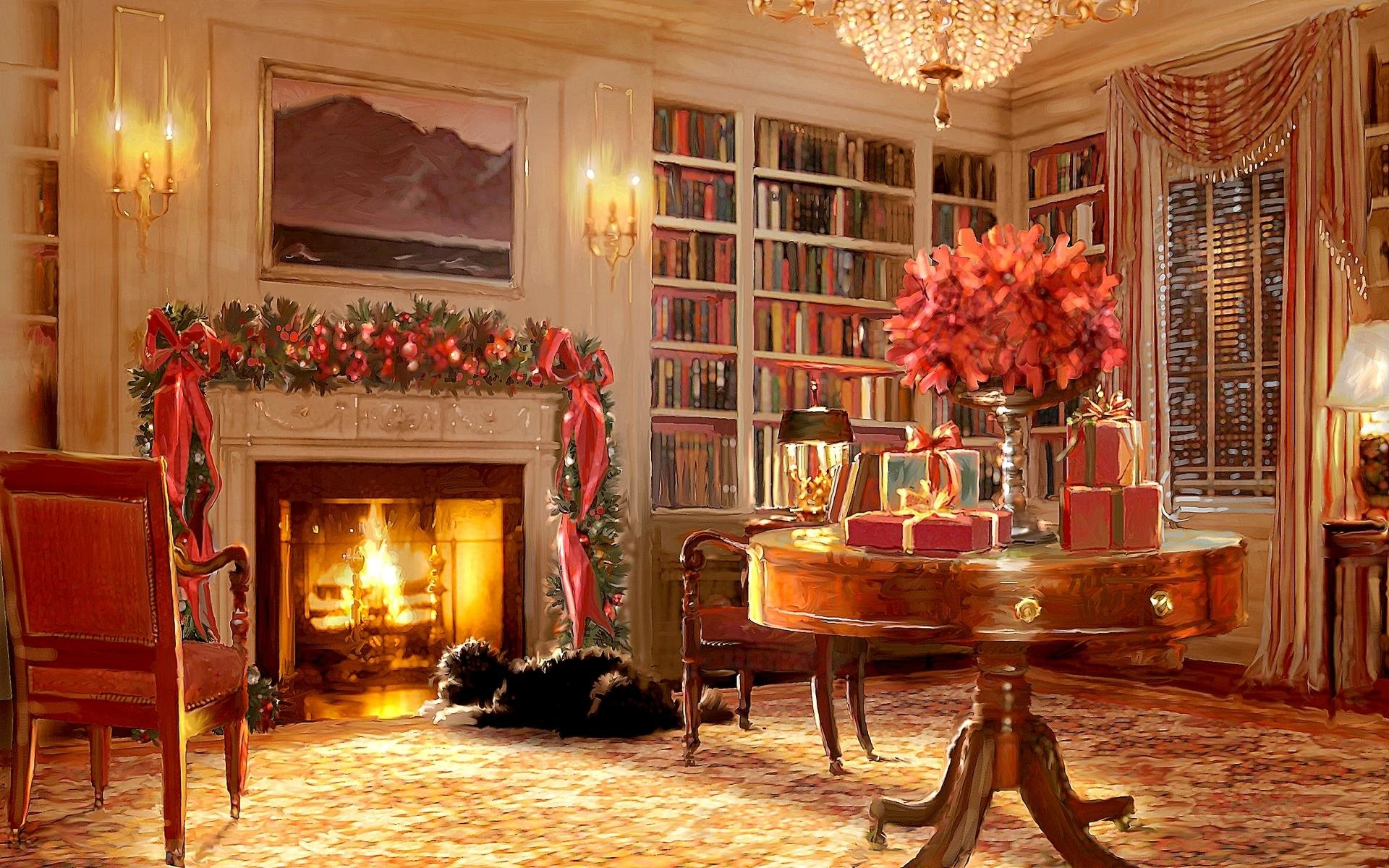 christmas scene full hd wallpaper and background 1920x1200 id