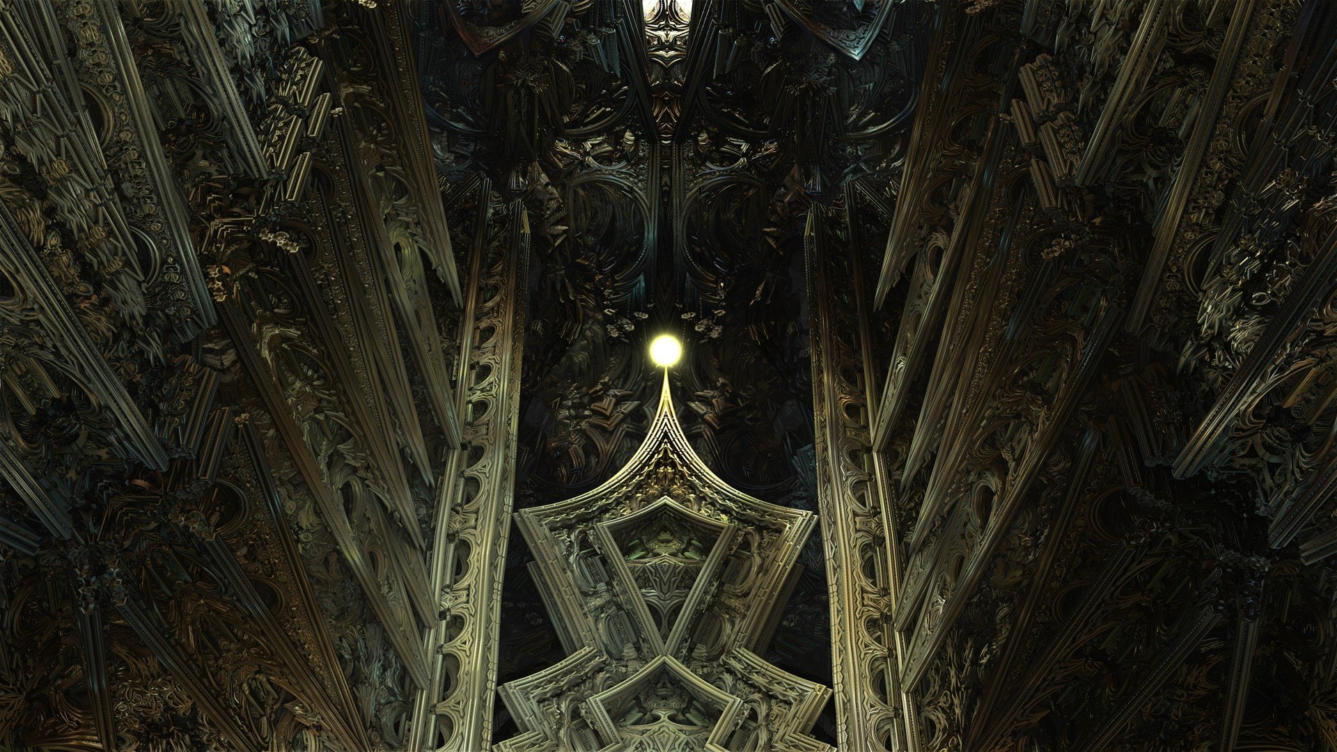 Gothic Design Wallpaper : Fantasy hall full hd wallpaper and background