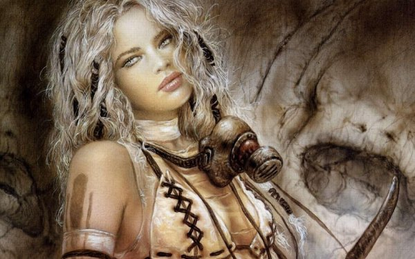 Fantasy Women Woman Gas Mask HD Wallpaper | Background Image