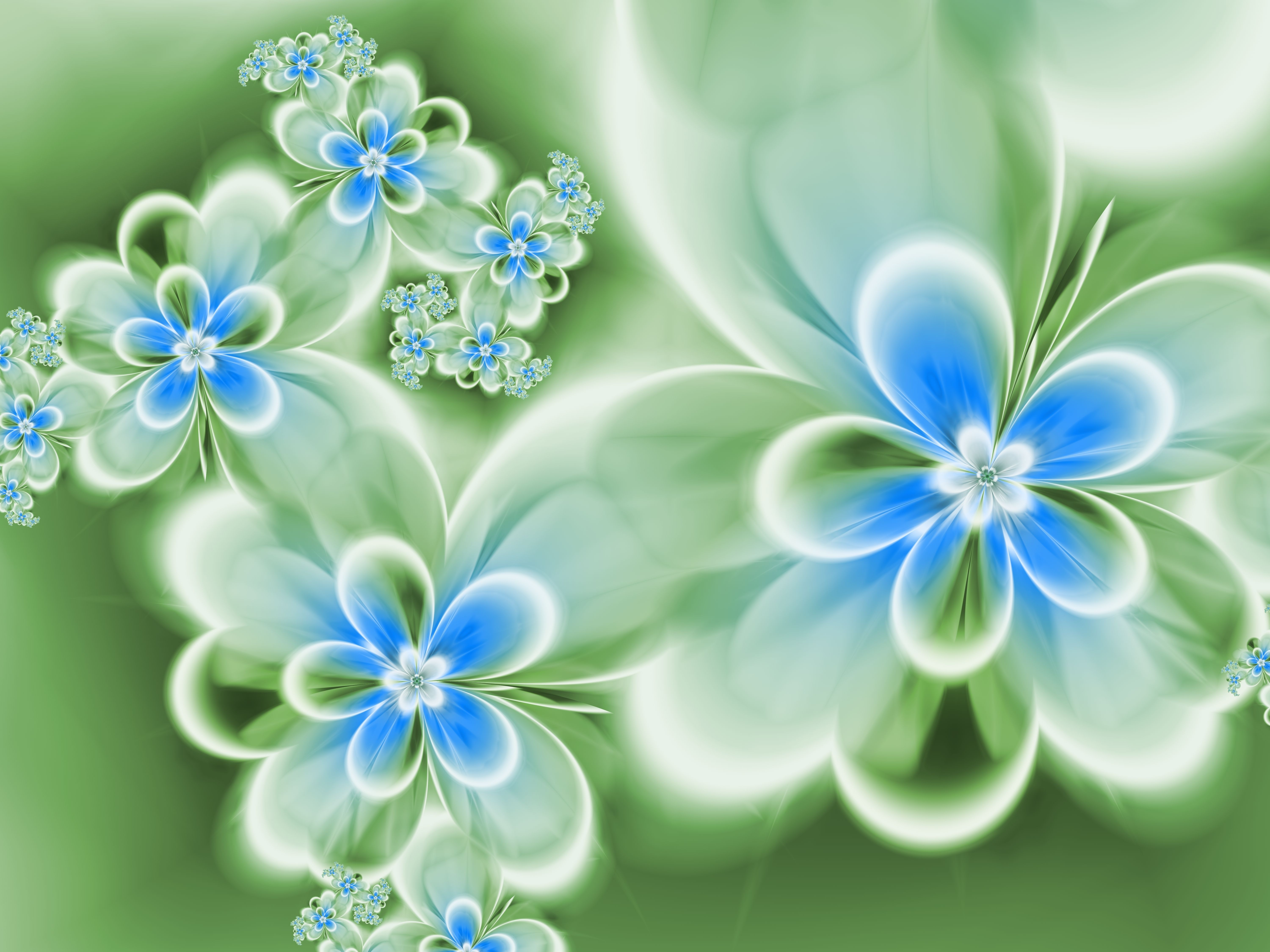 Abstract Flowers 5k Retina Ultra HD Wallpaper And Background Image