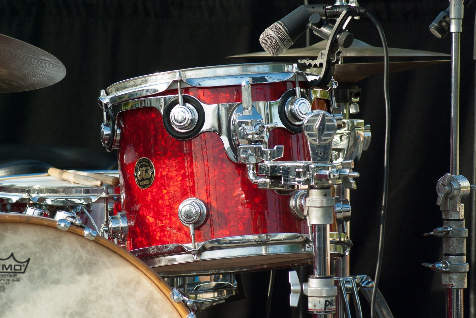 Musik - Drums  Drumset Instrument Musik Microphone Cymbal Bakgrund
