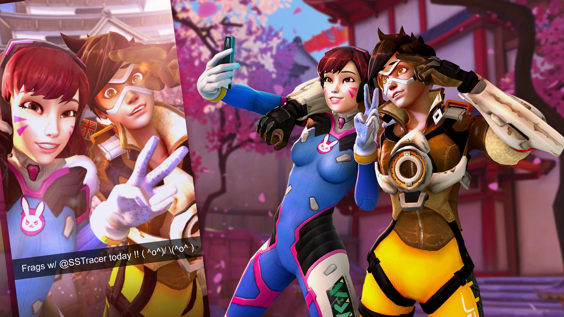 Video Game - Overwatch  Tracer (Overwatch) D.Va (Overwatch) Wallpaper